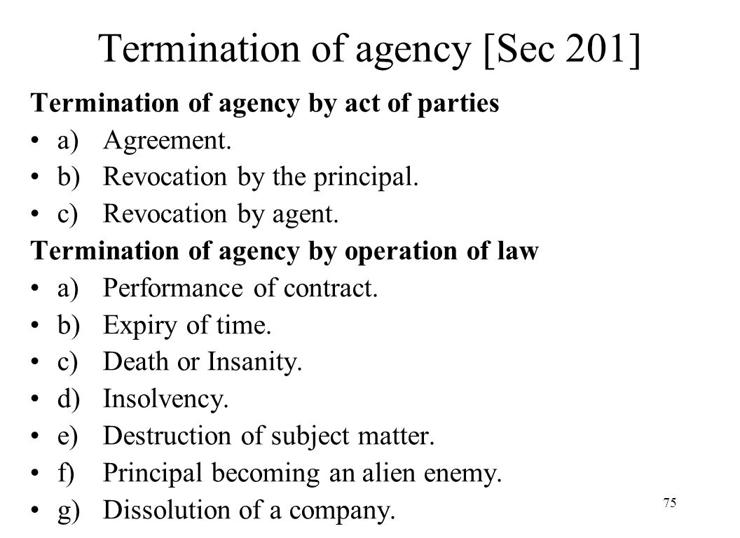 """termination of agency Like these termination letter samples, your letter will include an introduction, a body, and a conclusion the introduction should state your core information listed above and should use the official term agreed upon by the company (for example """"termination,"""" """"separation,"""" """"release,"""" or """"discontinuation of employment"""")."""